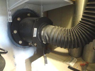 Blast valve and intake hose