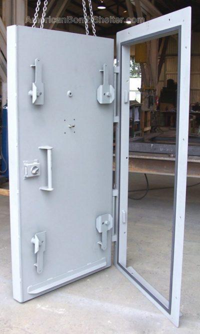 Inside a blast door