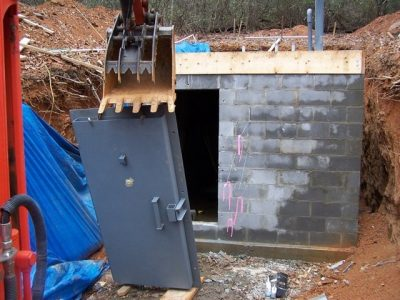 Blast door installation