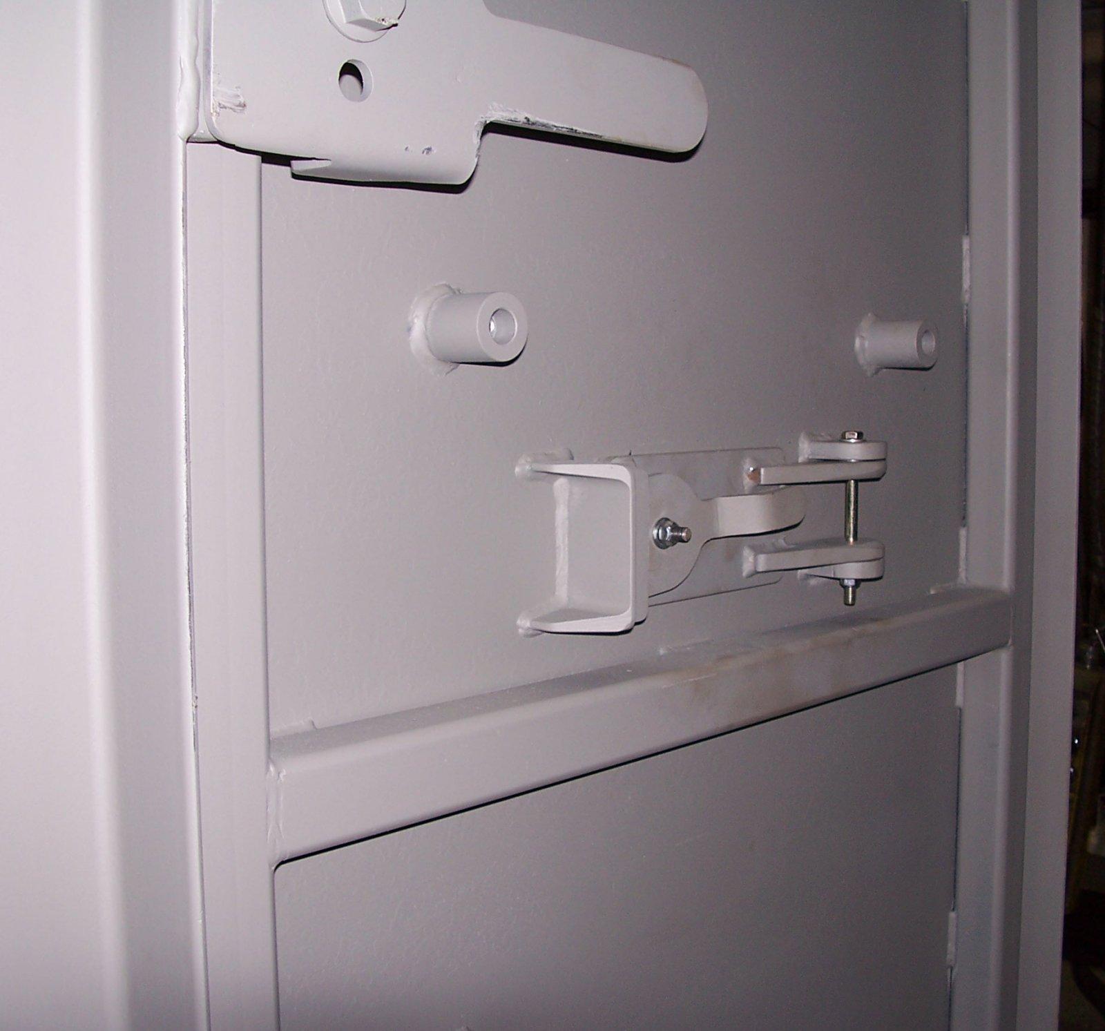 Latches on a ballistic door
