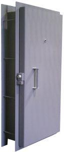 Pour in place blast resistant door