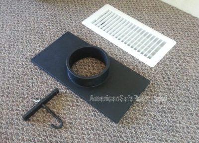 Register duct kit parts