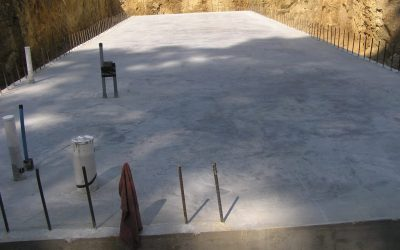 The floor slab after curing