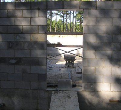 Rough opening for the blast door