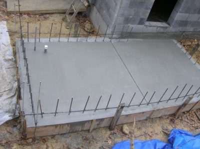 The floor slab pour is complete