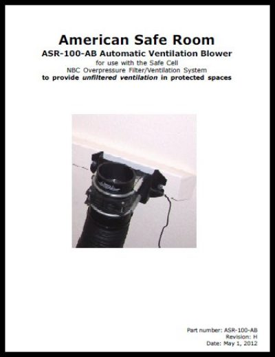 Automatic ventilation blower technical manual