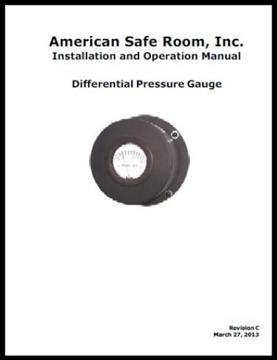 Differential pressure gauge technical manual