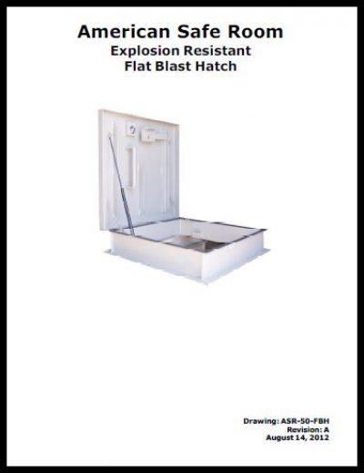 Manual for a flat blast hatch
