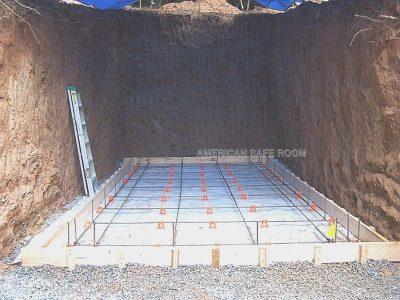 Bomb shelter floor slab