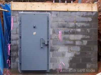 Blast door on a bomb shelter