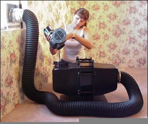 LH blower installation