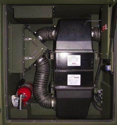 Cargo inspection trailer NBC filter