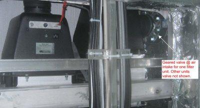 Harbor interdiction boat - installed NBC air filters