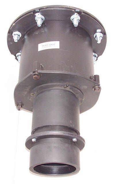 Blast valve with an overpressure valve mounted on it