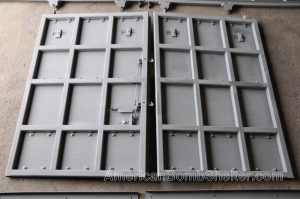 Frame of double leaf sliding ballistic door