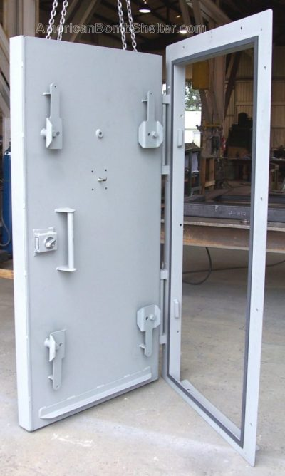 Concrete filled blast door