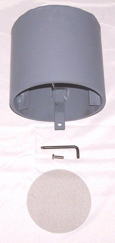 Rain hood for bomb shelter ventilation pipes