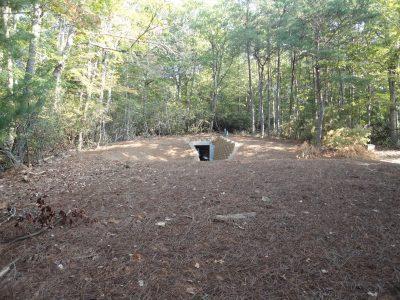 A hidden bomb shelter