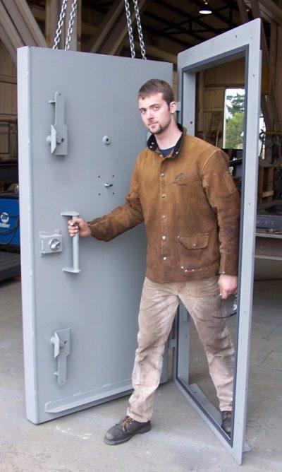 Blast door opening force