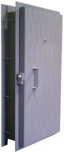 Pour in place blast resistant door