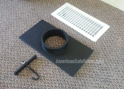 Register duct kit parts